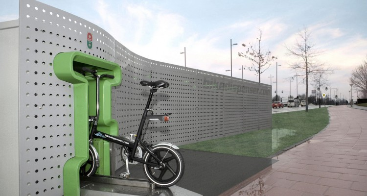 Bikedispenser dispensando bicicletita